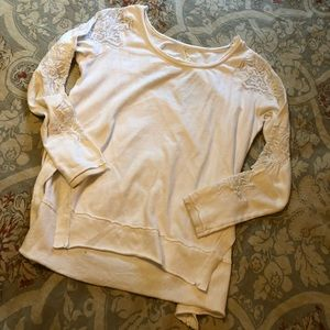 Free People lace open back sweater